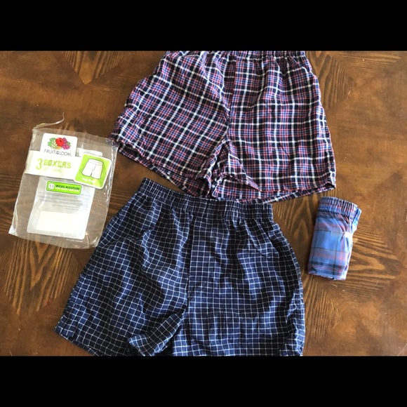 Fruit of the Loom 10Pack Boys Plaid Boxers Boxer Shorts Kids Underwear L